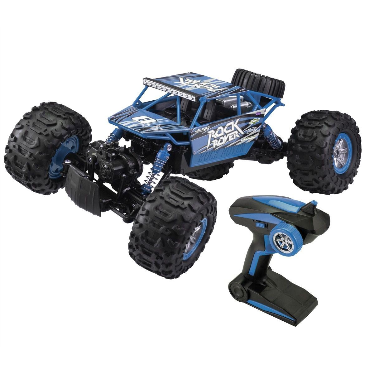 Carrinho De Controle Remoto – Anfibius Rock Rover  - Azul - Estrela   - Doce Diversão