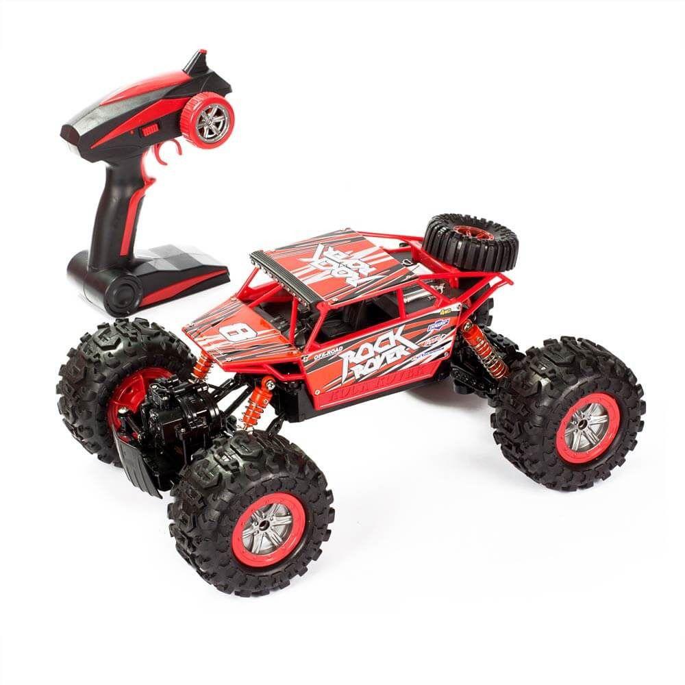 Carrinho De Controle Remoto – Anfibius Rock Rover  - Vermelho - Estrela   - Doce Diversão