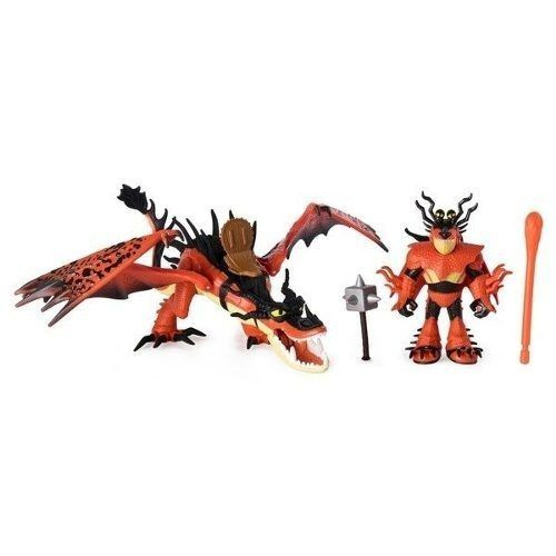Como Treinar Seu Dragão 3 - KIt  2 Dragões e 2 Viking – Sunny  - Doce Diversão