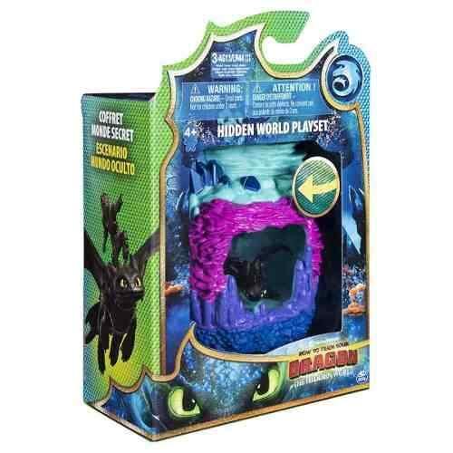 Como Treinar Seu Dragão 3 - Playset Caverna Do Dragão Banguela Sunny  - Doce Diversão