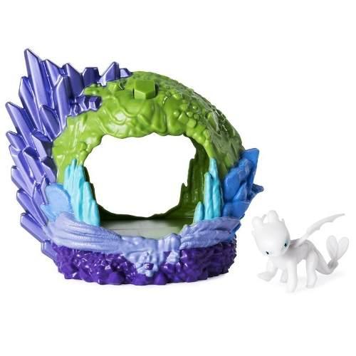 Como Treinar Seu Dragão 3 - Playset Caverna Do Dragão Fúria da Luz Sunny  - Doce Diversão