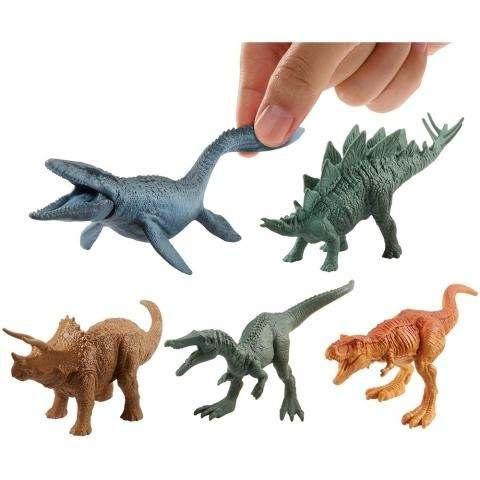 Conjunto Jurassic World 2 - Pacote C/ 15 Mini Dinossauros 10 cm – Mattel  - Doce Diversão