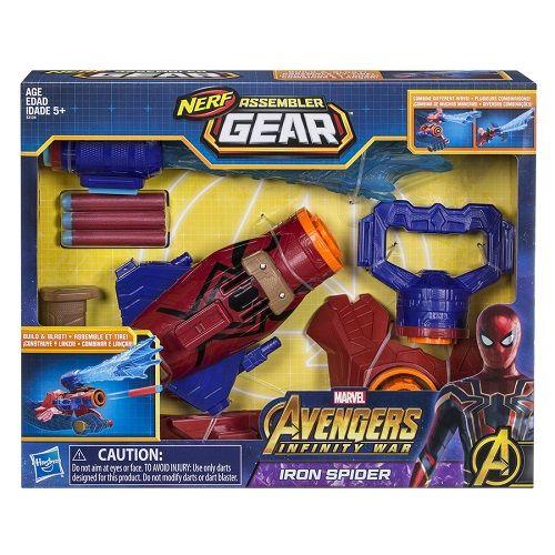 lançador Aranha Nerf Spiderman Vingadores Guerra Infinita  Hasbro  - Doce Diversão