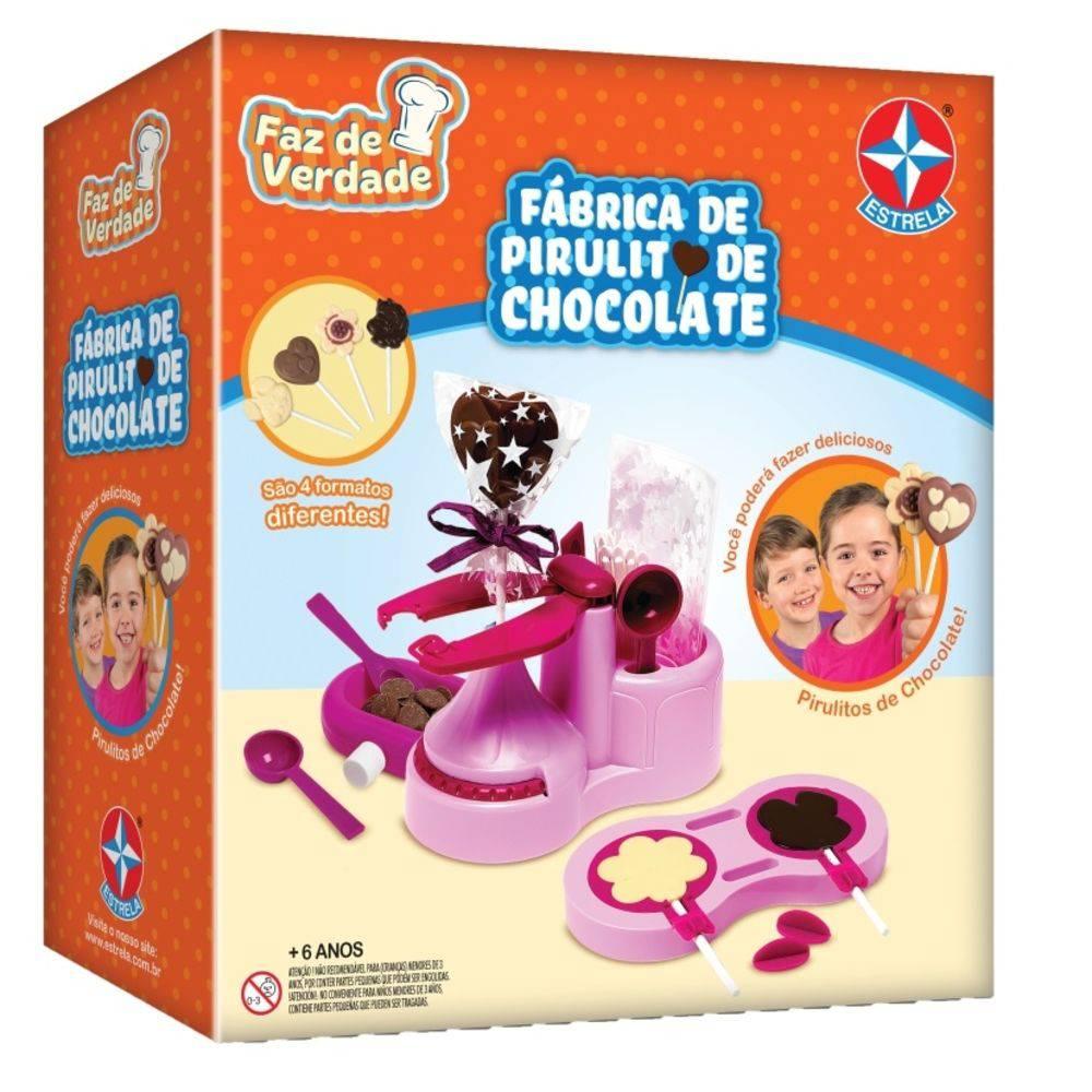 Fábrica de Pirulitos Chocolate - Faz de Verdade -  Estrela  - Doce Diversão