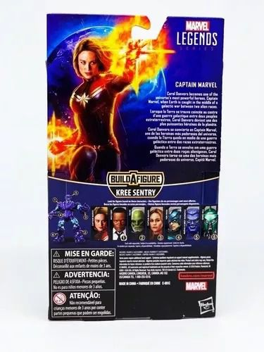 Figura Legends Series Build Filme Capitã Marvel 16 cm Articulada Hasbro  - Doce Diversão