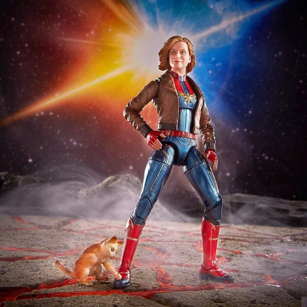 Figura Legends Series Build Filme Capitã Marvel e Goose 16 cm Articulada Hasbro  - Doce Diversão