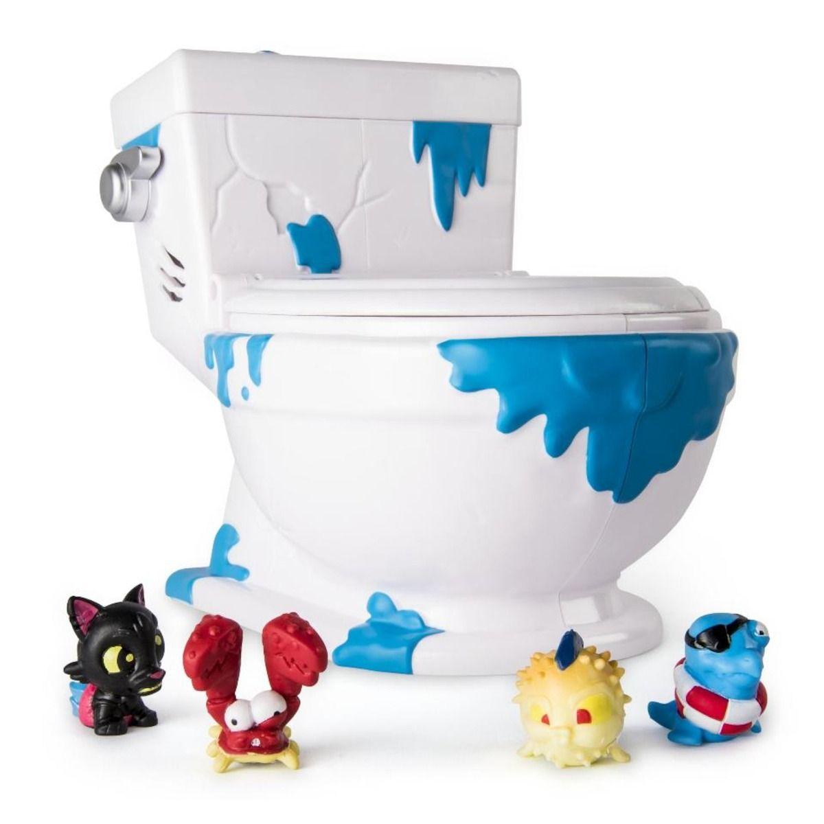Flush Force - Vaso Coletor com 4 Figuras Privada com Som - Sunny   - Doce Diversão