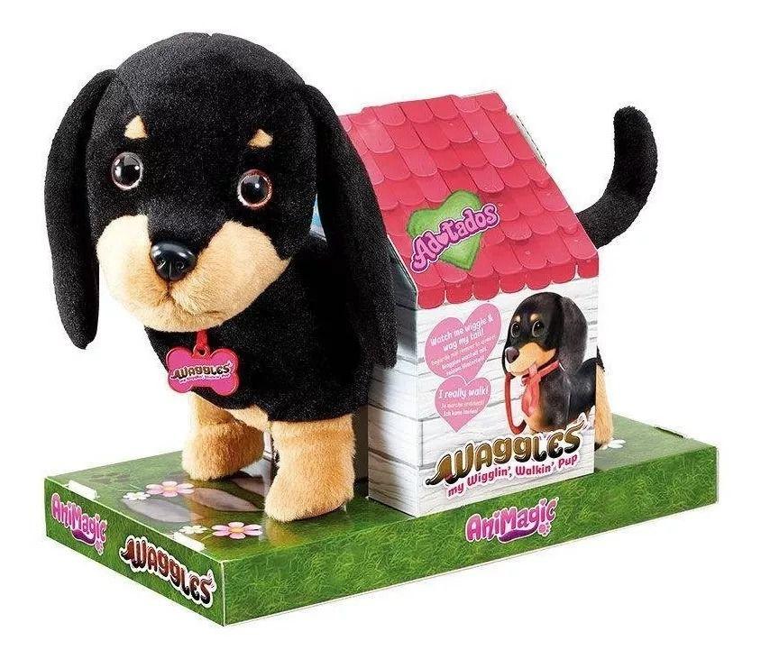 Fur Balls Pets Adotados Cachorro Salsicha – late ,anda e abana o rabinho - Fun   - Doce Diversão