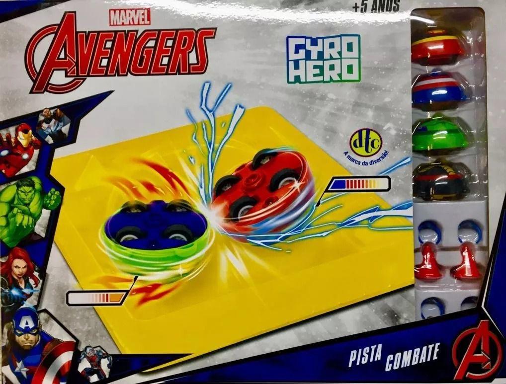 Gyro Hero Marvel Vingadores – Pista de Combate - DTC  - Doce Diversão