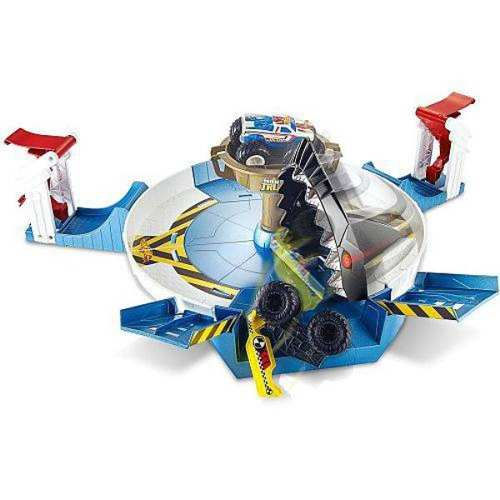 Hot Wheels Pista Monster Trucks Batalha do Tubarão Mecha Mattel  - Doce Diversão