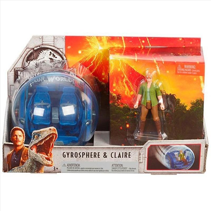 Jurassic World 2 – Conjunto Aventura – Giro Esfera + Claire – Mattel  - Doce Diversão