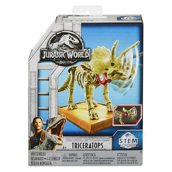 Jurassic World 2 – Esqueleto Dino Jurassico - Triceratops – Mattel  - Doce Diversão