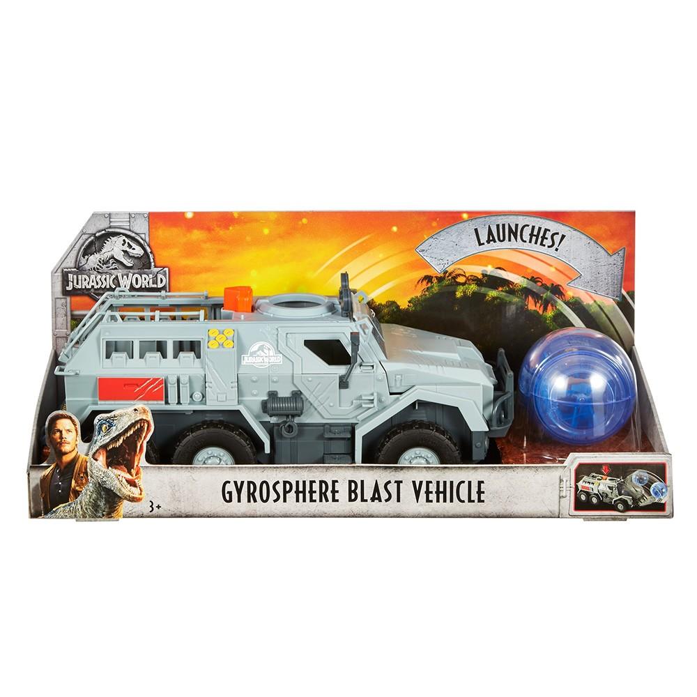 Jurassic World 2 – Super Veiculo Off Road Resgate + Giro Esfera – Mattel  - Doce Diversão