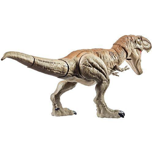 Jurassic World Tiranossauro T-Rex Batalha - C/ 2 botões mordida e cauda 56 cm Mattel  - Doce Diversão
