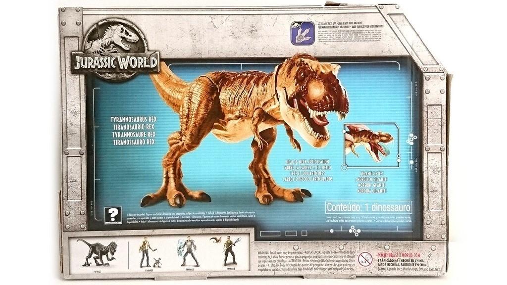 Jurassic World Tiranossauro T-Rex Botão mordida 50 cm Mattel  - Doce Diversão