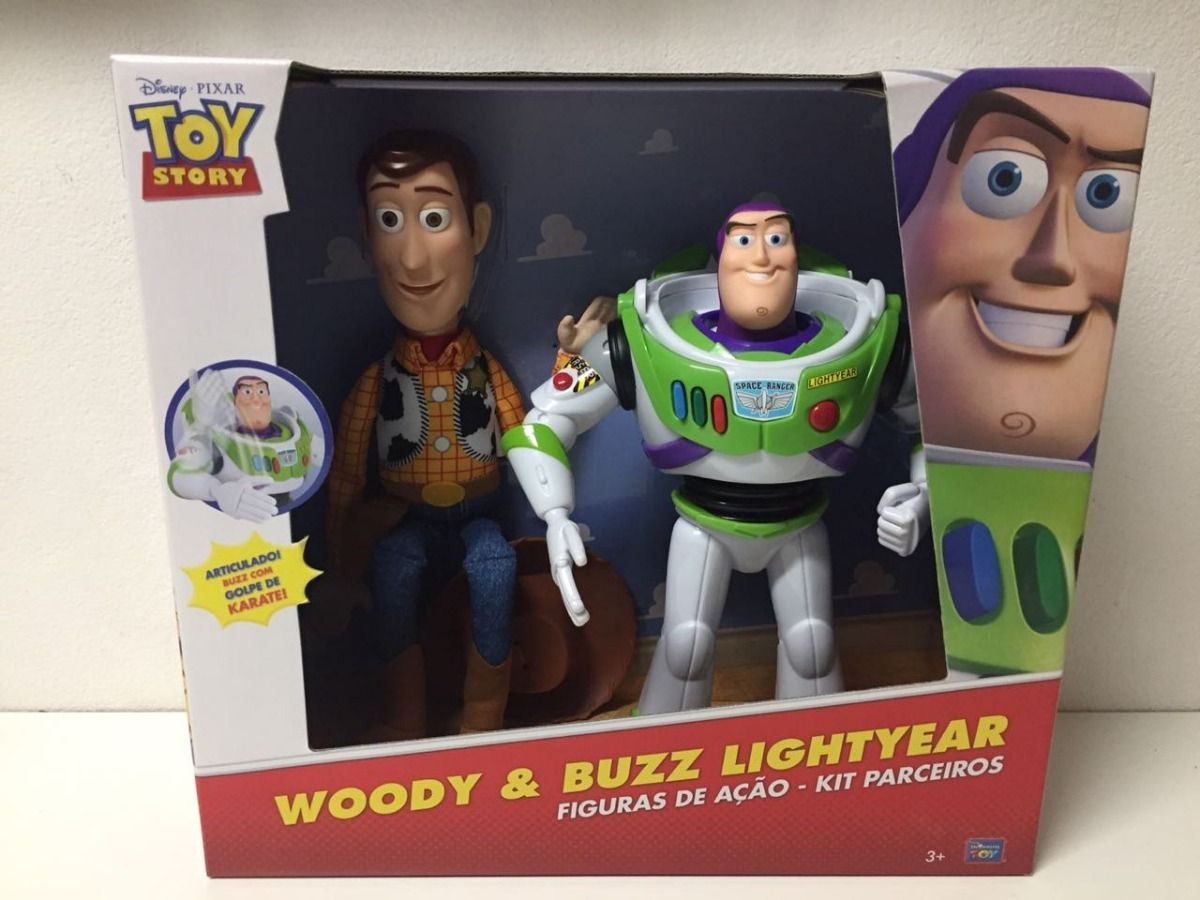 Kit Parceiros Buzz Lightyear E Woody Toy Story 30 e 40 cm - Toyng   - Doce Diversão