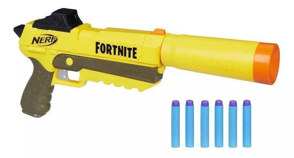 Lançador Nerf Fortnite SP-L Sneaky Springer Fall - Hasbro  - Doce Diversão