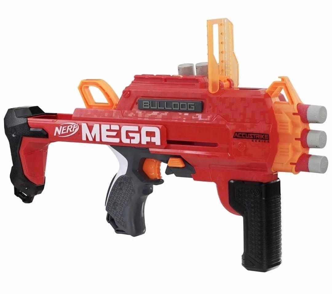 Lançador Nerf Mega Accustrike Bulldog – 2 em 1 - Hasbro  - Doce Diversão
