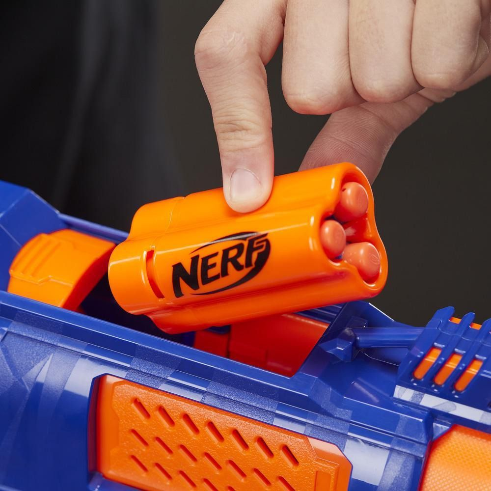 Lançador Nerf N-Strike Elite - Trilogy DS-15 – lança 3 dardos de uma vez e ejeta a capsula  – Hasbro  - Doce Diversão