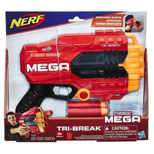 Lançador Nerf N-Strike Mega Tri-Break – Hasbro  - Doce Diversão