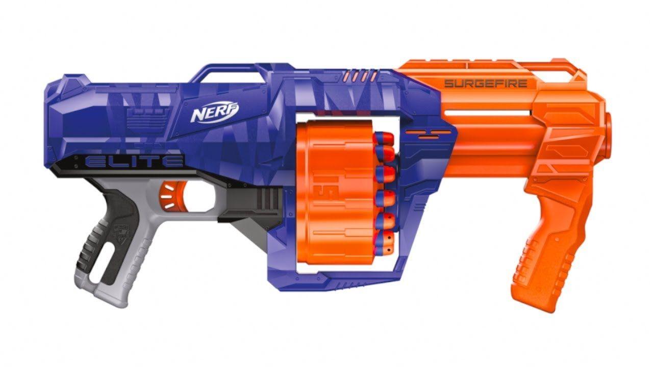 Lançador Nerf Strike Elite Surgefire C Tambor Giratório 15 dardos Hasbro  - Doce Diversão