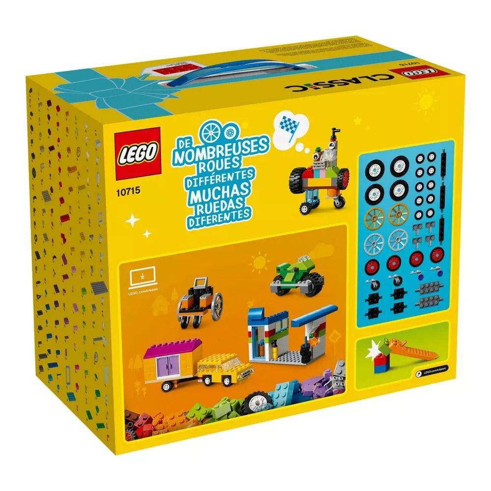 Lego 10715 Classic –Caixa Criativa Engrenagens E Rodas - 442 Peças  - Doce Diversão