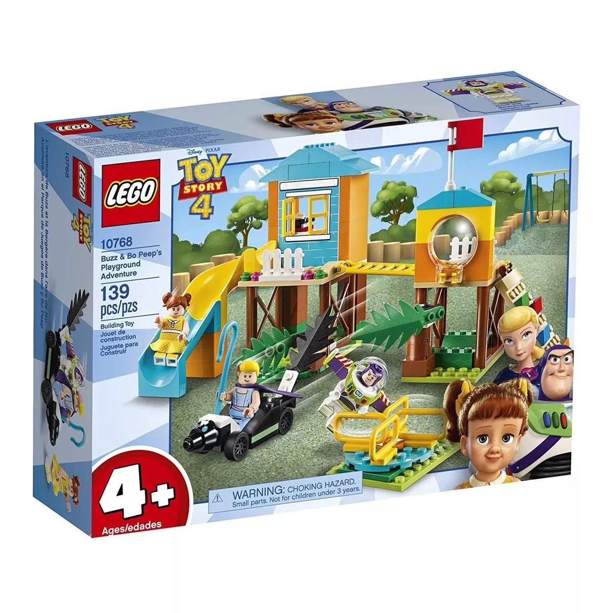 Lego 10768 Toy Story 4 – Aventura No Playground De Buzz , Betty e Gabby – 139 peças  - Doce Diversão