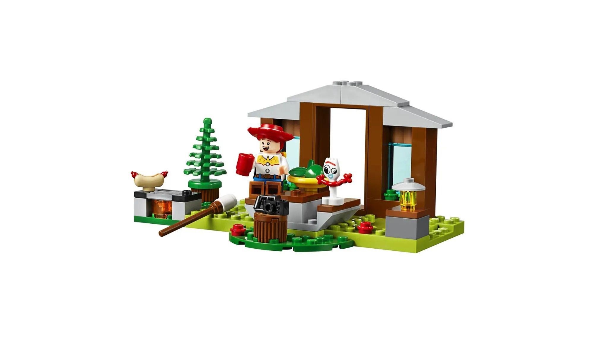 Lego 10769 Toy Story 4 - Férias Com Trailer Jessie , Rex E Forky  - 178 peças  - Doce Diversão