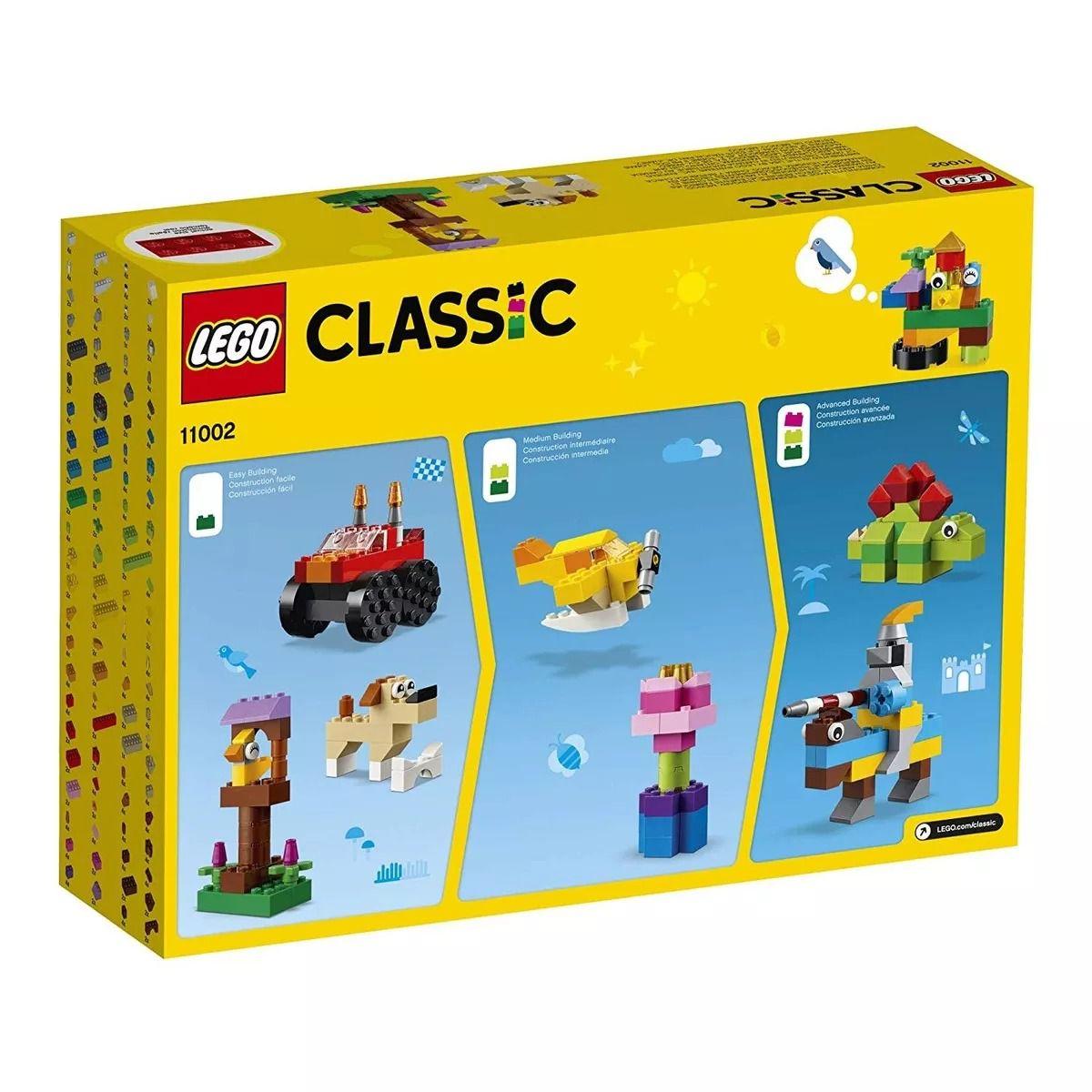 Lego 11002 Classic – Caixa Conjunto de Peças Básico C/ Idéias  – 300 peças  - Doce Diversão