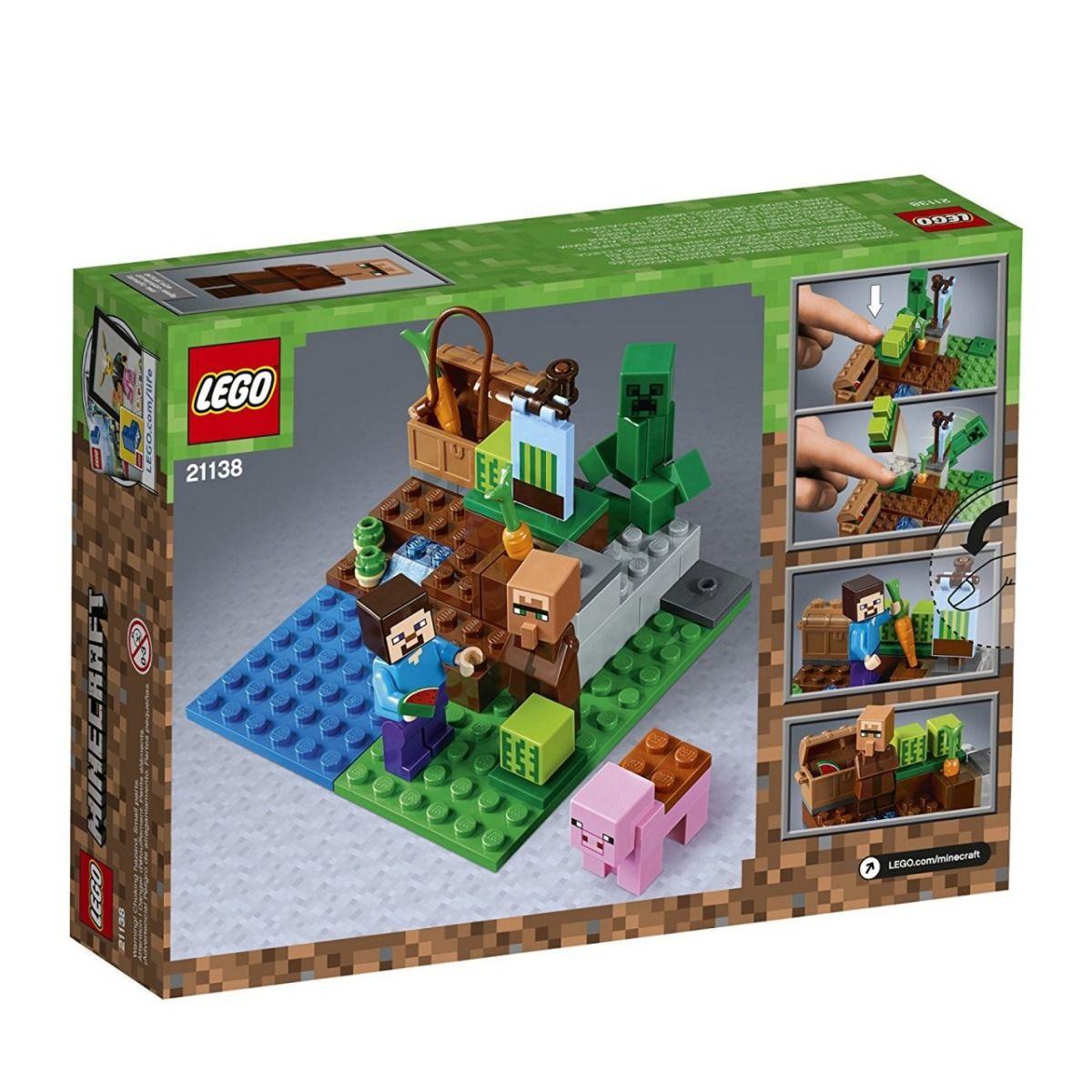 Lego 21138 Minecraft  A Fazenda Dos Melões – 69 peças  - Doce Diversão