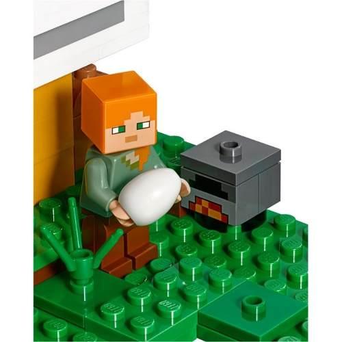 Lego 21140 Minecraft - o Galinheiro – 198 peças  - Doce Diversão