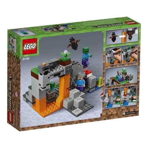 Lego 21141 Minecraft  a Caverna do Zombie 241 peças  - Doce Diversão