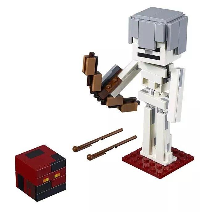 Lego 21150 Minecraft  - Bigfig Esqueleto com Cubo de Magma - 142peças  - Doce Diversão