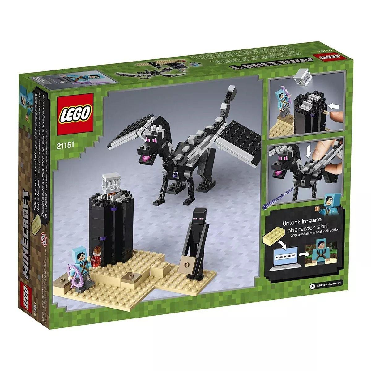 Lego 21151 Minecraft - A Batalha Final – 222 peças  - Doce Diversão
