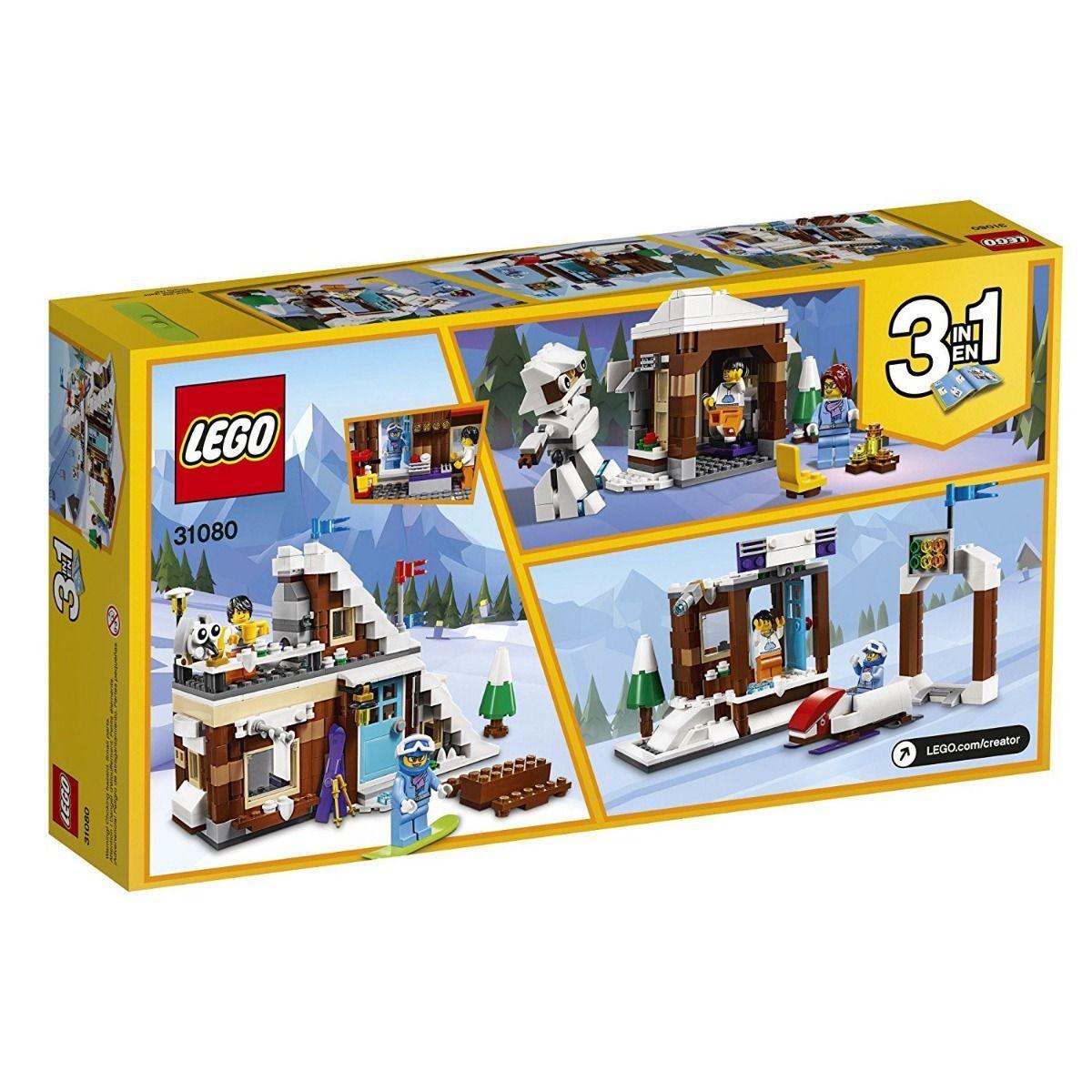 Lego 31080 Creator 3 em 1 Casa Modular de Férias de Inverno -374 peças  - Doce Diversão
