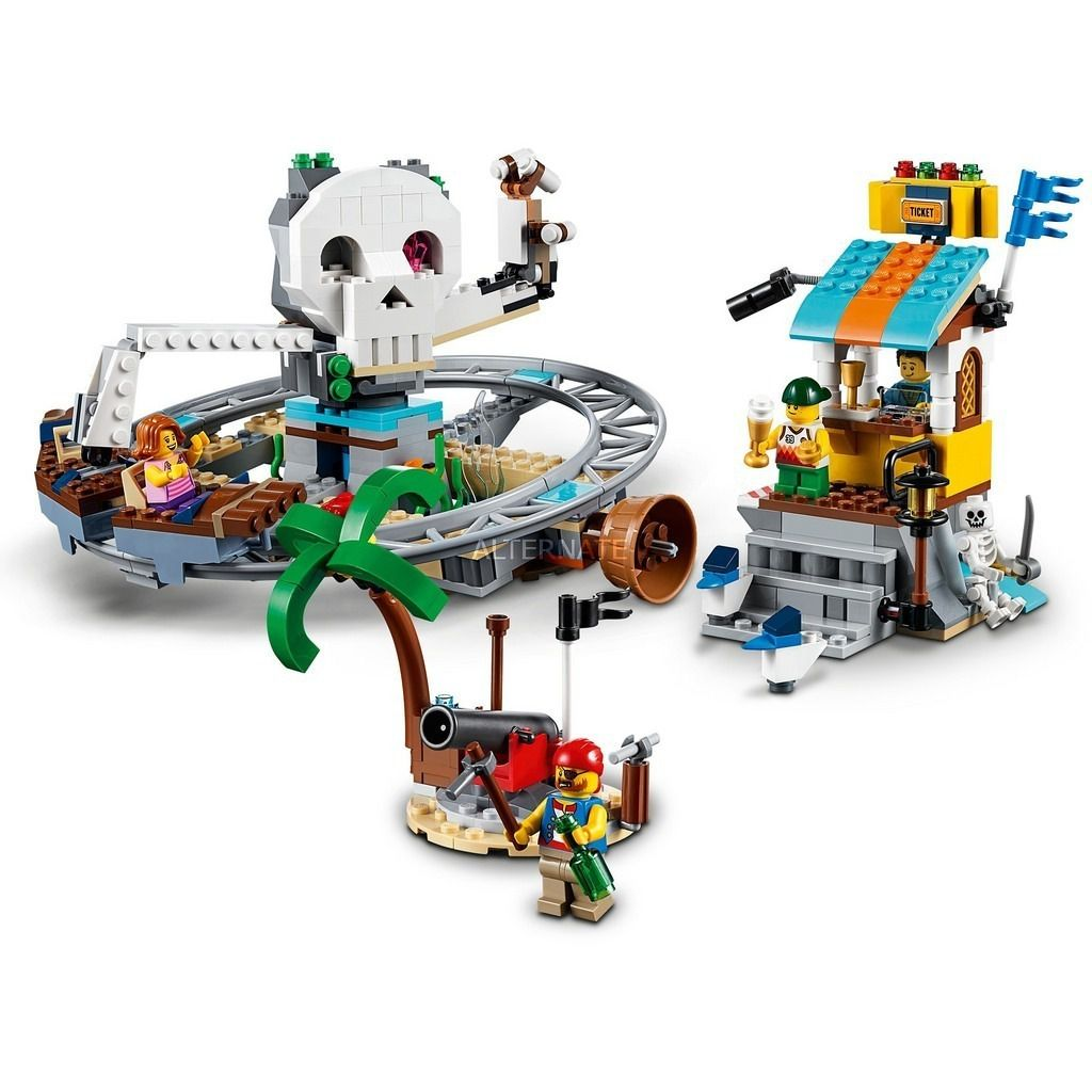 Lego 31084 Creator - Montanha Russa de Piratas 3 em 1 – 923 peças  - Doce Diversão
