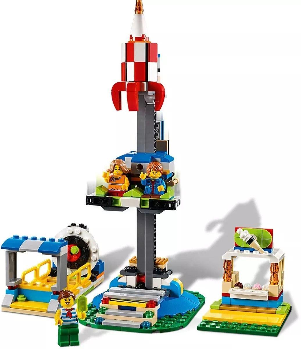 Lego 31095 Creator - Carrossel do Parque De Diversões 3 em 1 – 595 peças  - Doce Diversão