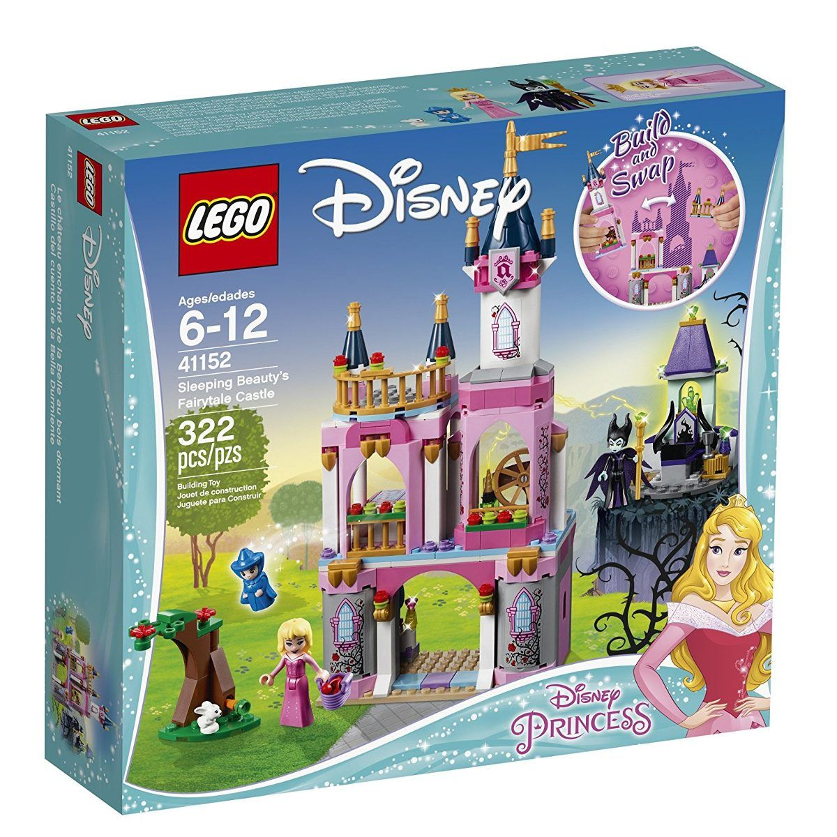 Lego 41152 Princesas Disney-  O Castelo do Conto de Fadas da Bela Adormecida – 322 peças  - Doce Diversão