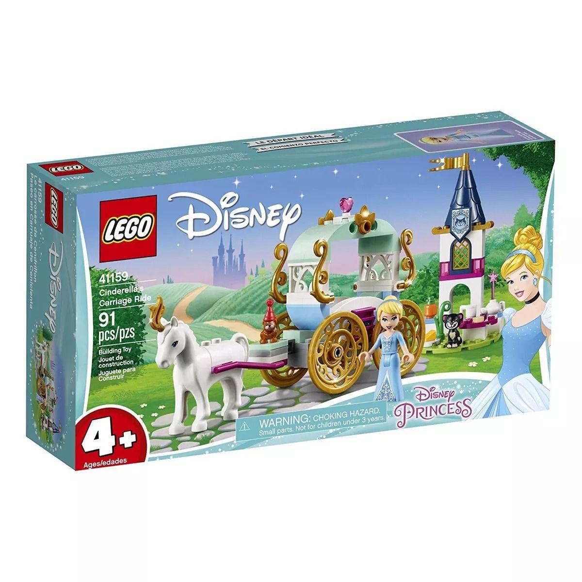 Lego 41159 Princesas Disney -Passeio da Carruagem da Cinderela – 91 peças  - Doce Diversão