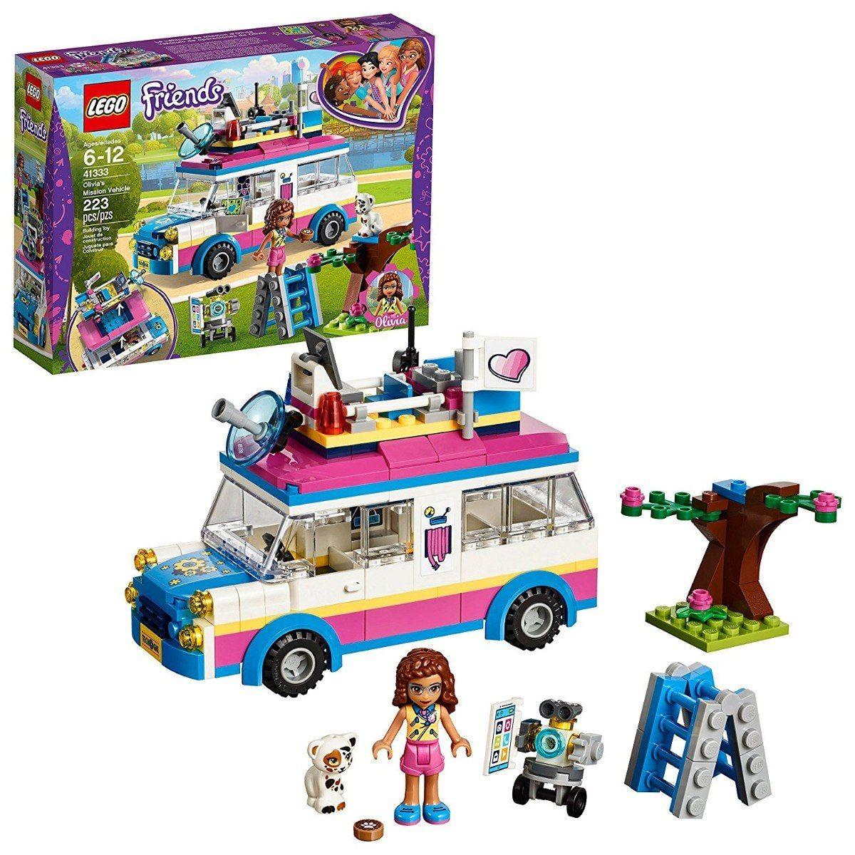 Lego 41333 Friends - O Veículo de Missões da Olivia – 223 peças  - Doce Diversão
