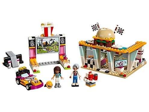 Lego 41349 - Friends O Restaurante Drive – in Cine Drifting – 345 peças  - Doce Diversão