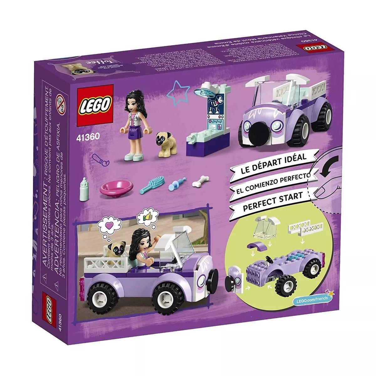 Lego 41360 Friends - Clínica Veterinária Móvel Da Emma -50 peças  - Doce Diversão