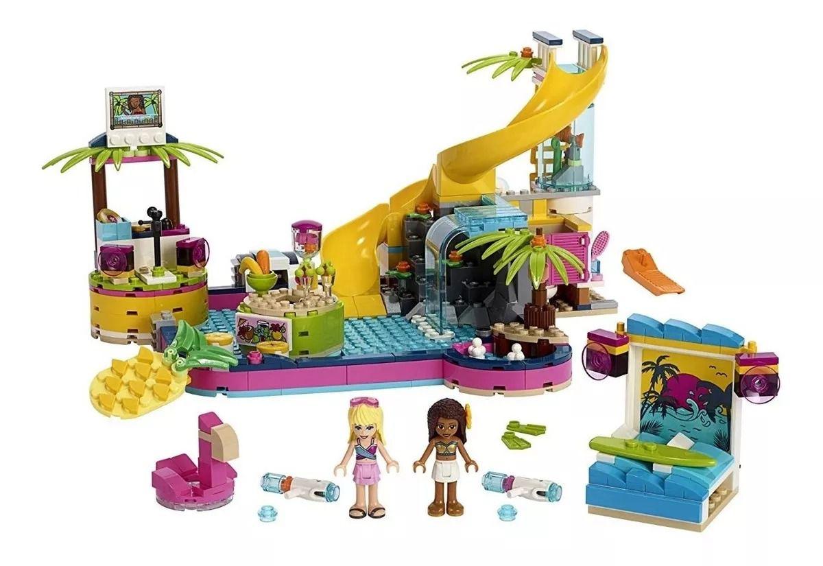 Lego 41374 Friends - Festa Na Piscina Da Andrea - 468 peças  - Doce Diversão