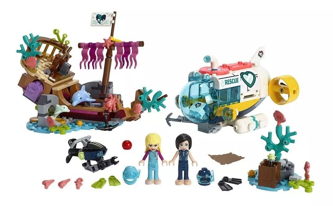 Lego 41378 Friends - Missão de Resgate de Golfinhos – 363 peças  - Doce Diversão