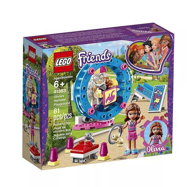 Lego 41383 Friends -  Playground do Hamster da Olivia -81 peças  - Doce Diversão