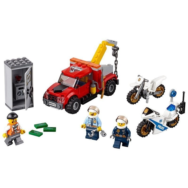 Lego 60137 – City – Caminhão Reboque em Dificuldades -144 peças  - Doce Diversão