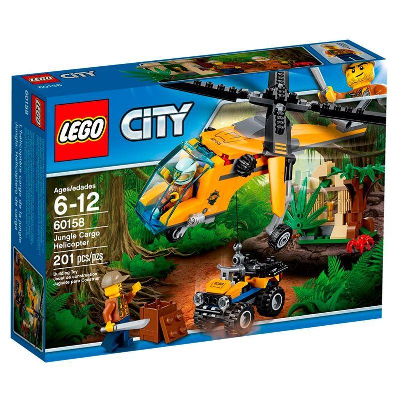 LEGO 60158 City - Helicóptero de Carga da Selva – 201 peças  - Doce Diversão