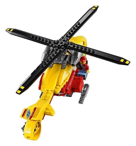 Lego 60179 City Helicóptero Ambulância – 190 peças  - Doce Diversão