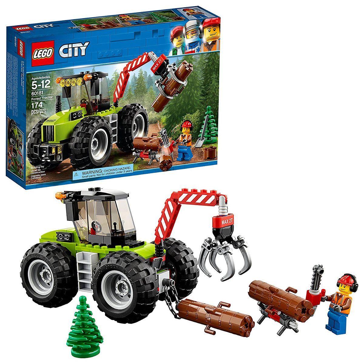Lego 60181 City  Trator Florestal 174 peças  - Doce Diversão