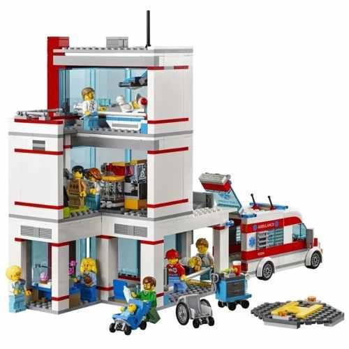 Lego 60204 City - Hospital da Cidade Lego City -861 peças  - Doce Diversão